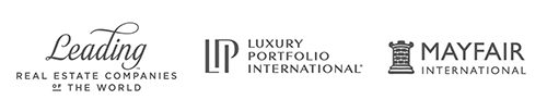 Logos des partenaires Leading , Luxury Portfolio International , Mayfair International